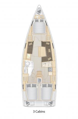 418 Plan - 3 Cabins