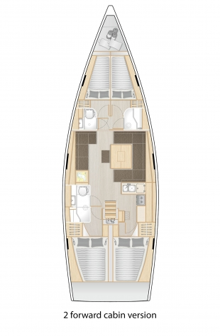 Hanse 458 - 2 Forward cabin version