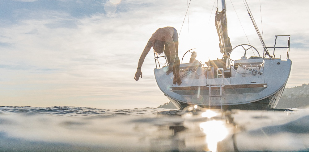 Hanse 418 Diving